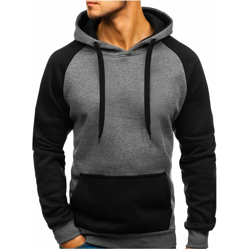 2018 Fashion Men Brand Hip Hop Men Sweatshirt Solid Color Stitching Hoodie Jackets Mens Hoodies Men Hody Moletom Size 3XL-geekbuyig