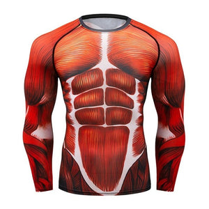 Mens Compression Shirts 3D Game characters Tights Long Sleeve T Shirt MMA Brand tshirt Fashion Men marvel t shirt Crossfit Tops-geekbuyig