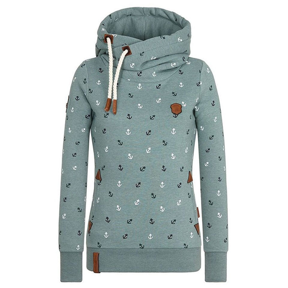 Women Hoodie Long Sleeve Pullover Print autumn Straight Beige Green Straight Light Blue Modern Fashion Women Hoodie plus size-geekbuyig