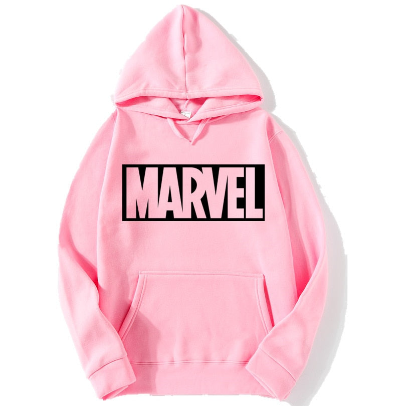 2017 New Marvel Letter Print Black Sweatshirt Men Hoodies Fashion Solid Hoody Men Pullover Men's Tracksuits male coats-geekbuyig