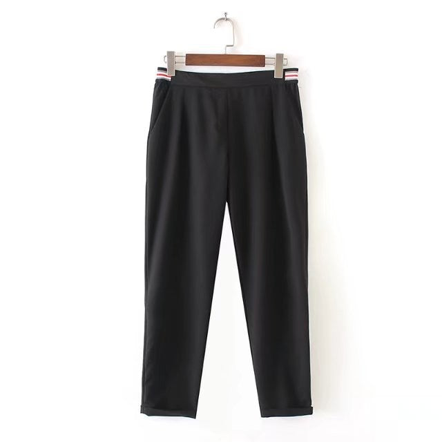 J15 European style wind tightness nine points casual pants-geekbuyig