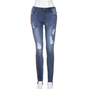Jeans Woman Plus Size 2018 New Sexy Hole Pencil Pants Denim Skinny Stretch Soft Tights Jeans Trousers #S03-geekbuyig