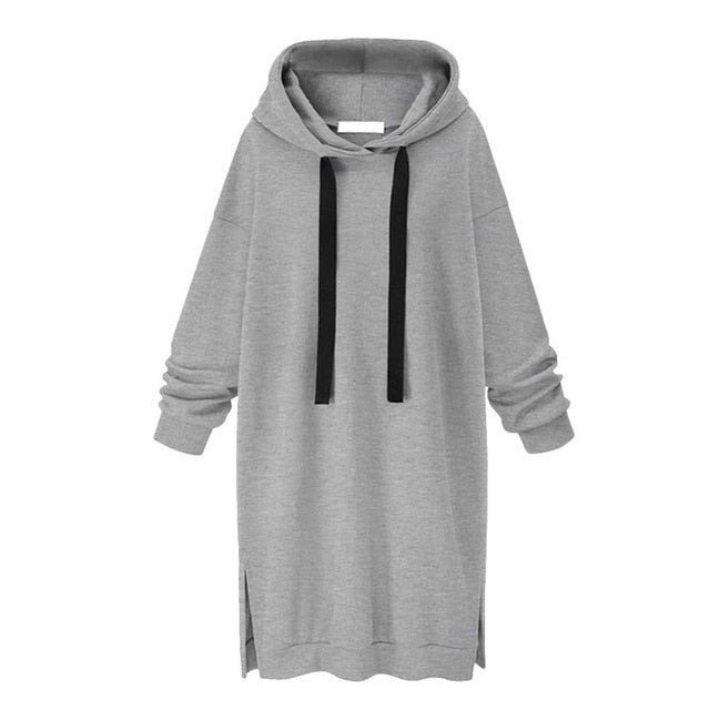 Women Sweatshirts Womens Long Sleeve Hooded Loose Casual Warm Sweatshirt O-Neck Full Pullovers hoodies women crop JULY18-geekbuyig