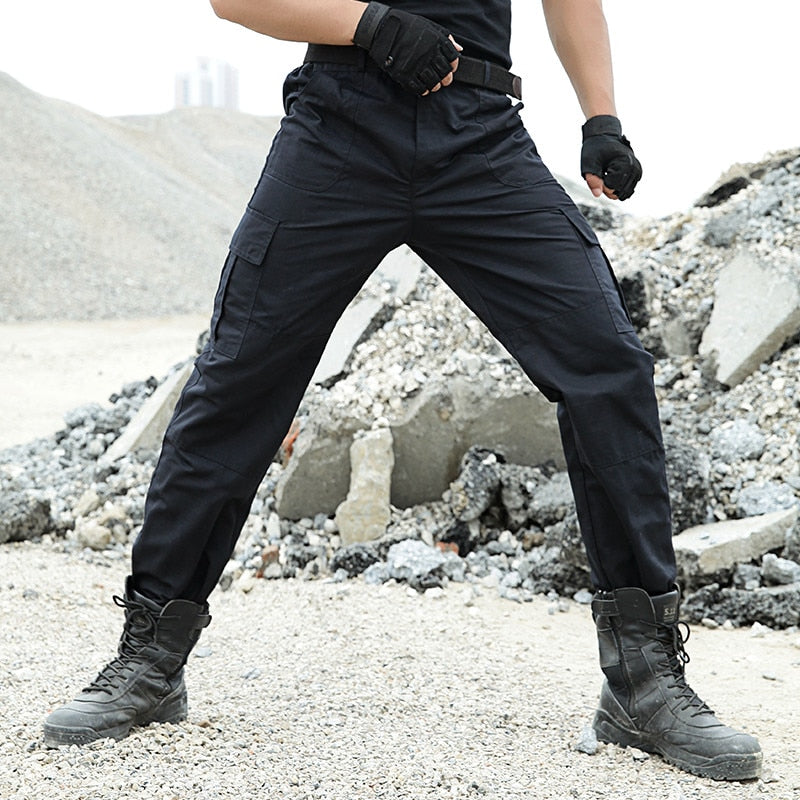 Tactical Pants Men Military Cargo Pants Trousers Army Workman Black Working Pantalon SWAT Hunter Joggers Wear-resisting Trousers-geekbuyig