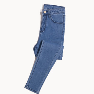 Jeans for Women Jeans with High Waist Jeans Woman High Elastic fashion Stretch Jeans female washed denim skinny pencil pants-geekbuyig