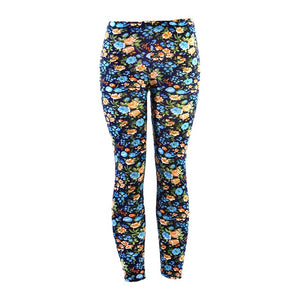 Yesello Women Printed leggins High Waist Polyester Push Up Fitness Legging Pants Elastic Workout Leggings For Women Summer-geekbuyig
