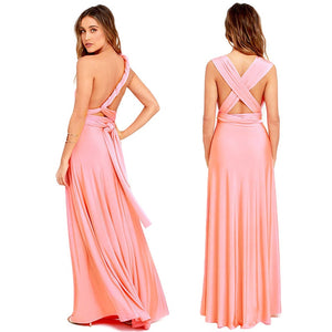 Sexy Women Multiway Wrap Convertible Boho Maxi Club Red Dress Bandage Long Dress Party Bridesmaids Infinity Robe Longue Femme-geekbuyig