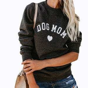 Dreamlikelin Women Fashion Hoodies Long Sleeve Autumn Tops Ladies Casual Sweatshirt Dog Mom Pet Lovers O-Neck Female Pullover-geekbuyig