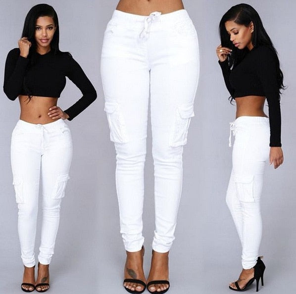 2018 Elastic Sexy Skinny Pencil Jeans For Women Leggings Jeans Woman High Waist Jeans Women's Thin-Section Denim Pants ~~-geekbuyig