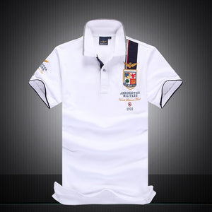 2018 High Quality Men T-shirt 100%Cotton Aeronautica Militare Men's short Sleeve T-shirt Air Force One Embroidered-geekbuyig