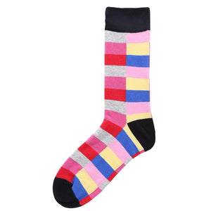 Colorful Casual Mens Happy Socks High Quality Combed Cotton Cartoon Designs Funny Socks Crew Autumn Winter compression man socks-geekbuyig