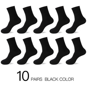 HSS 2018 Men's Cotton Socks New styles 10 Pairs / Lot Black Business Men Socks Breathable Autumn Winter for Male US size(7.5-12)-geekbuyig