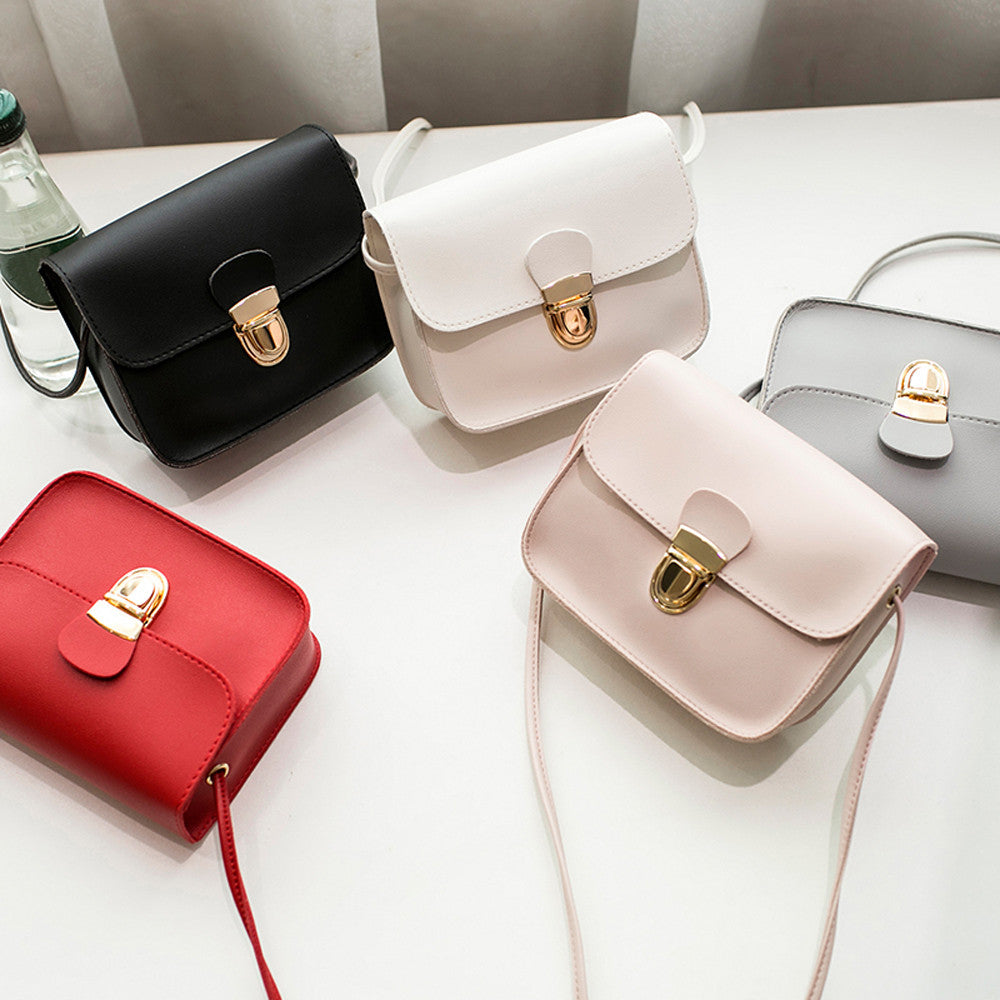 women messenger bags woman bag 2018 famous brands Women Fashion Solid Color Cover Lock Shoulder Crossbody Phone beach Bag sac-geekbuyig