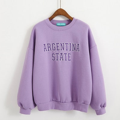 2018 Women's Korean Harajuku Printed Loose Sweatshirt Female Velvet Ladies Loose Clothes Retro Ulzzang Svitshot For Women-geekbuyig