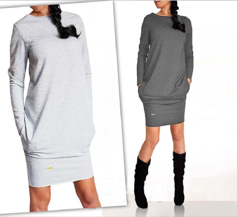 3XL Plus Size 2018 New Arrive Women Autumn Winter Dress Casual New Fashion Party Dress Vestidos Sexy Long Sleeve O-Neck Dresses-geekbuyig