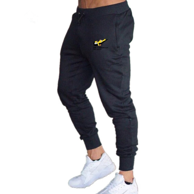 Sportswear Pants Casual Elastic Cotton Mens Fitness Workout Pants Skinny Sweatpants Trousers printing simpsons joggers Pants-geekbuyig