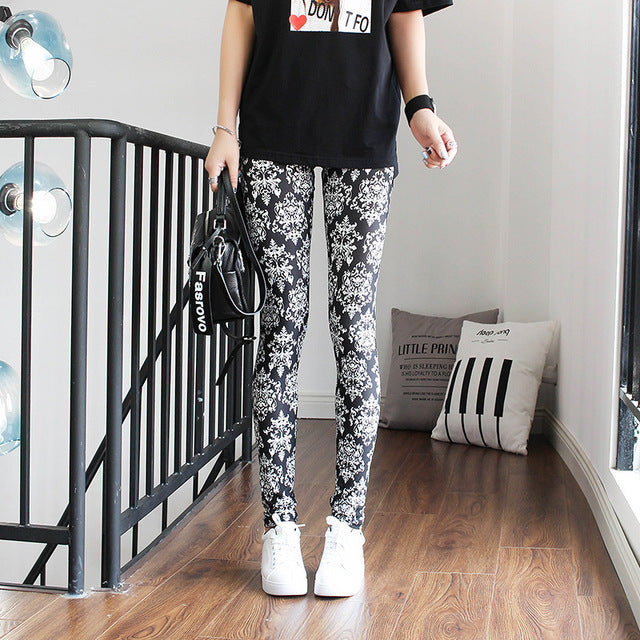 Fashion Leggings Sexy Casual Highly Elastic and Colorful Leg Warmer Fit Most Sizes Leggins Pants Trousers Woman's Leggings-geekbuyig
