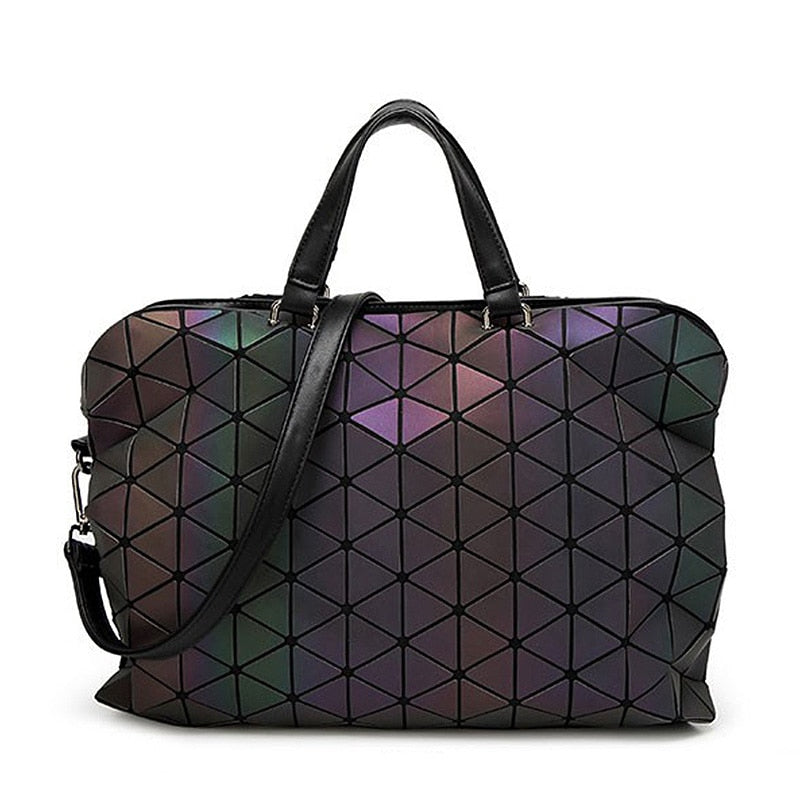 Famous Brands Women Bags Chain Luminous Crossbody Shoulder Bag Geometric Quilted Luxury Handbag Lattice Bolsas-geekbuyig
