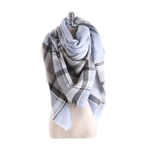 Hot sales Winter Scarf for Women Scarves Luxury Soft Plaid Cashmere Scarves Women 140*140cm Square Bufanda Drop Shipping-geekbuyig