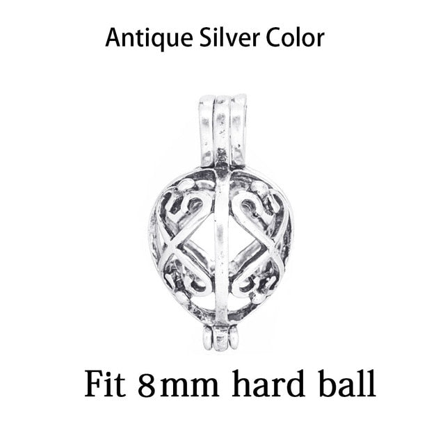 1pc Mixed Pearl Cage Locket Pendants Vintage Aromatherapy Mermaid Essential Oil Diffuser Necklace Locket For DIY Jewelry-geekbuyig