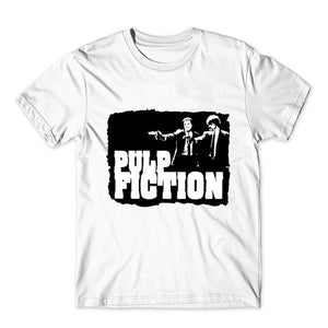 New Fashion Brand Pulp Fiction T shirt Saint jules Print T shirt Summer Short Sleeve Shirts Tops Catholicism Tees T-Shirt tees-geekbuyig