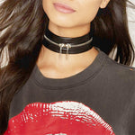 Women Men Cool 100% Handmade Choker Fetish Round Leather Collar Bondage Harness Necklace Children Sub BDSM-geekbuyig