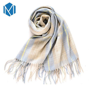 190*72cm Thick Long Cashmere Scarf Pashmina Scarves for Woman Luxury Warm Tassels Autumn Winter Shawl Plaid Wool Female Blanket-geekbuyig