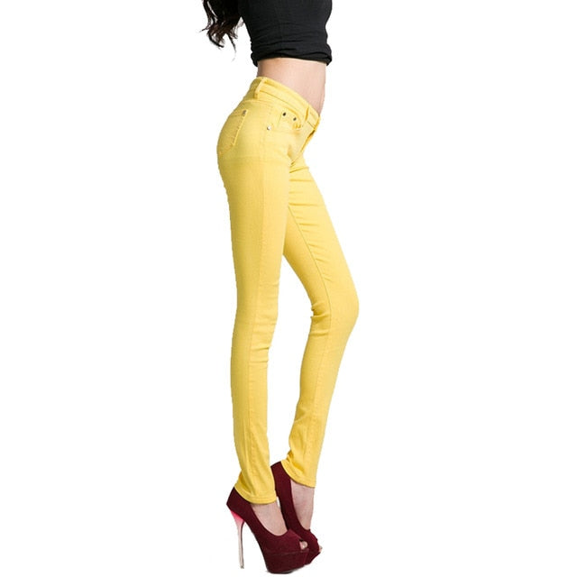 Women's Candy Jeans Pant Denim Skinny Pants Casual Stretch Bottoms Ladies 2018 Autumn Fashion Plus Size Female Trousers-geekbuyig