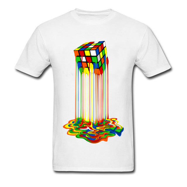Good Quality Cube T-Shirts Rainbow Abstraction Cube Sheldon Cooper T Shirt Big Discount Best Tee Shirt Women Men Funny Tops Tee-geekbuyig