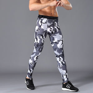 2018 Young men compre pants thermal MMA Clothing rash guard male compression pants Stretch breathable men's runnings suit brand-geekbuyig