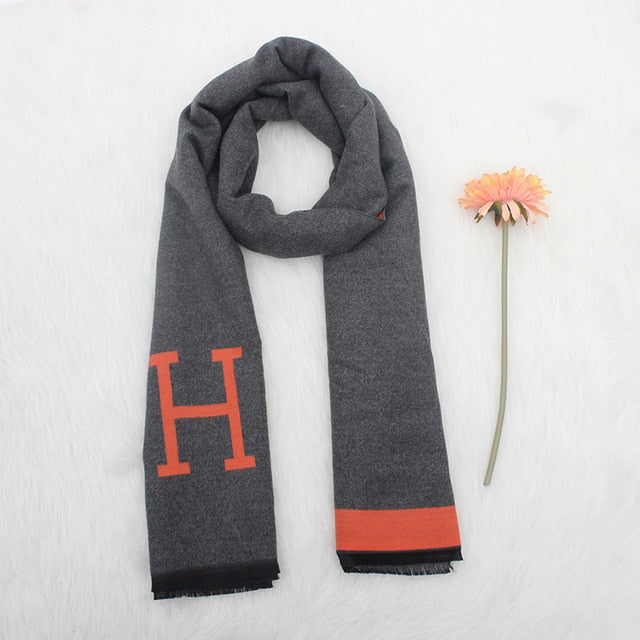 High-quality Women Cashmere Scarf Ladies Long Bowknot Scarf Thick Warm Pashmina Brand Designer Shawl Women Wraps-geekbuyig