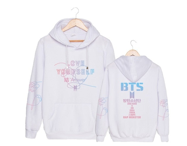 Harajuku Kawaii Printed Hoodie Bts Love Yourself Answer Album Kpop Clothes Fashion Oversize Hoodies Sweatshirts Women Pullovers-geekbuyig