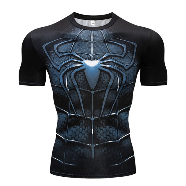 New Batman VS Superman 3D Printing T-shirt Fitness Compression Shirt Men's Anime Super Hero Bodybuilding Crossfit T-Shirt-geekbuyig