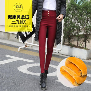 Women Pant Winter Jeans Women Gold Fleece Warm Denim Pants Thicken Thin High Waist Pencil Pants Female Fall Jean Trousers 2019-geekbuyig