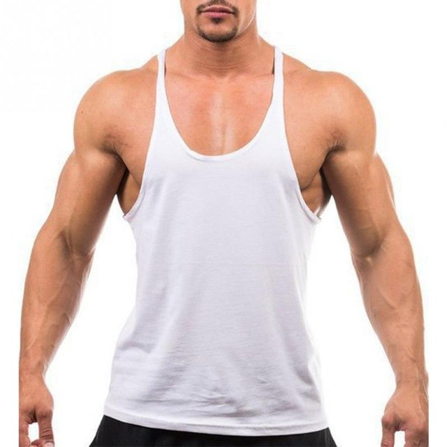 Men's Summer new Vest Muscle Bodybuilding Solid Color Tank Top Round collar Sleeveless Sportswear Fitness Vest Tops Male-geekbuyig