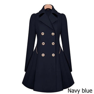 Zogaa Brand Plus Size women trench coat Autumn Women's Double breasted Warm Windbreaker Causal Long ladies trench coat female-geekbuyig