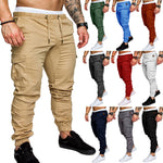 2018 Male Trousers Mens Joggers Solid Multi-Pocket Ten Colors Pants Sweatpants Brand Men Pants Hip Hop Harem Joggers Pants M-4XL-geekbuyig