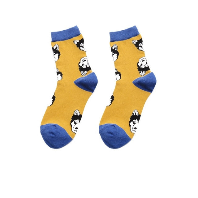 Colour men/women crew cotton socks of happy sock casual harajuku pattern skate designer brand fashion novelty art cool summer-geekbuyig