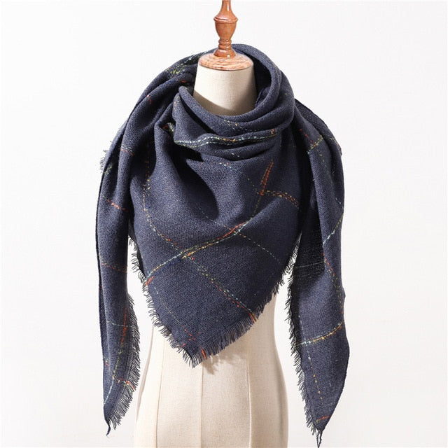 Designer 2018 Winter Triangle Scarf For Women luxury Brand palid Shawl Cashmere Scarves warm neck Blanket lady bandana pashmina-geekbuyig