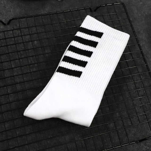 2018 New High Quality Harajuku chaussette L Style Socks For Men's Cotton Hip Hop Socks Man Meias Mens Calcetines-geekbuyig