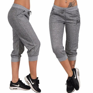 Zogaa 2018 Fashion Style Women Summer Pants Women Trousers Hoody Pants Mid Waist Capri Pants Calf-Length Pants Pockets S-XXXL-geekbuyig