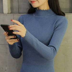 OHCLOTHING 2018 New Spring Autumn Fashion Women sweater high elastic sexy slim Warm tight Bottoming elegant Knitted Pullovers-geekbuyig