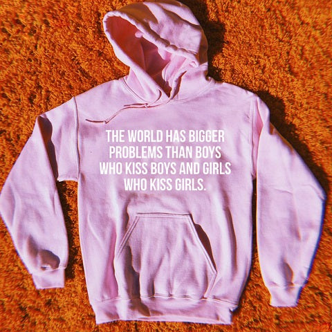 why be racist sexist homophobic or transphobic when you could just be quiet Hoodies Women Funny Tops Jumper Sweatshirt Sweats-geekbuyig