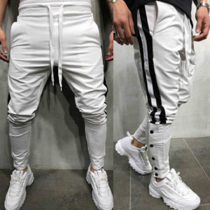 Pants 2018 New Brand Mens Casual Hip Hop Harem Slim Fit Trousers Tracksuit Bottoms Cargo Skinny Track Pants-geekbuyig