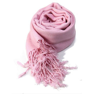 Women Oversized Autumn Winter Blanket Scarf Wrap long Wool Tassel Scarf Pashmina Shawls Scarves Solid Cashmere Scarves-geekbuyig