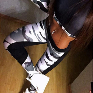 High Quality Women Leggings High Elastic Skinny Camouflage Legging Spring 2018 new Summer Slimming Women Leisure Jegging Pants-geekbuyig
