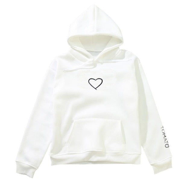 2018 Woman Loose Pullover Hoodies Hip Hop Street wear Sweatshirts Female Hoodie-geekbuyig