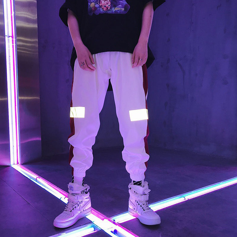 Men Clothes 2018 Hip Hop Striped Reflective Pant Mens Hip Hop Joggers Sweatpants Male Streetwear Track Pants Pantalon Hombre-geekbuyig