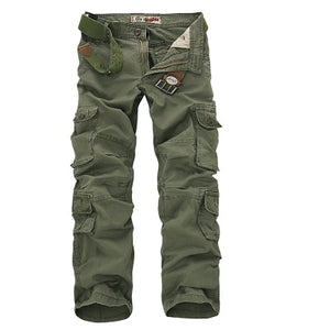 2018 Autumn mens cargo pants army tactical pants male Multi-pocket Outwear Straight trousers military pant men pantalon homme 46-geekbuyig