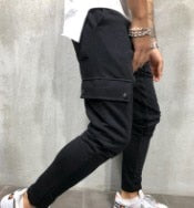 2018 Male Trousers Brand Men Pants Cotton Multi Pocket Harem Joggers Pants Mens Joggers Solid Pants Sweatpants M-3XL-geekbuyig